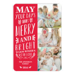 "Be Merry Type | Holiday Photo Card 5"" X 7"" Invitation Card"
