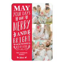 Be Merry Type | Holiday Photo Card Invitations