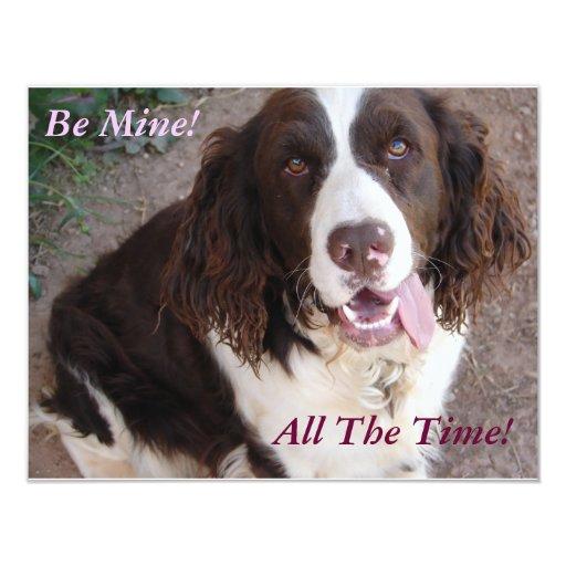 Be Mine!  All The Time! Custom Invitation