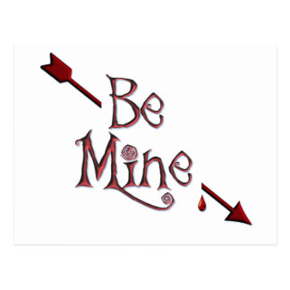 BE MINE ARROW by SHARON SHARPE Post Cards