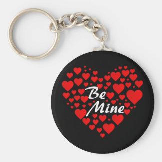 Be Mine Basic Round Button Keychain