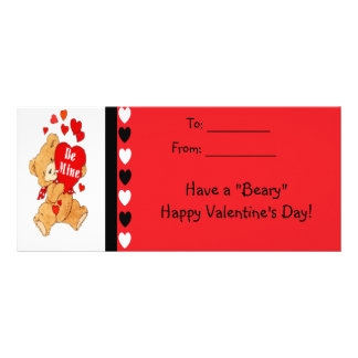 Be Mine Bear Kids Beary Happy Valentines Cards