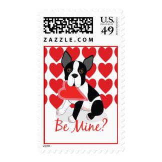 Be Mine? Boston Terrier Love Valentine's Postage