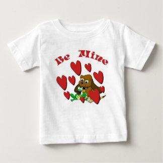 Be mine cartoon beagle and Frog with Hearts Tees