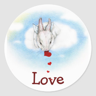 BE MINE CLASSIC ROUND STICKER