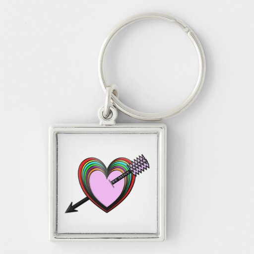Be Mine - Colorful Hearts with Arrow Key Chains