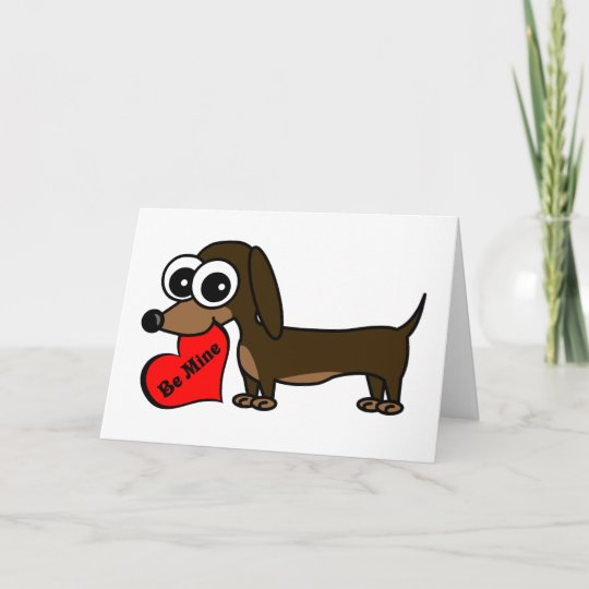 be mine cute dog valentines day card - Dog Valentines Day Cards