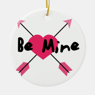 Be Mine Double-Sided Ceramic Round Christmas Ornament