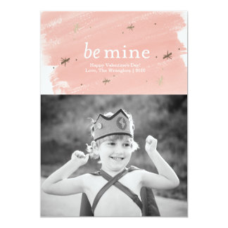 Be Mine Faux Gold Foil Valentine's Day Photo Card
