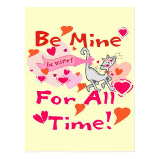 Be Mine for All Time Postcards