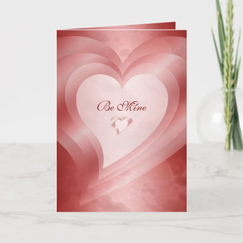 Be Mine Forever and Always Red Hearts Holiday Card