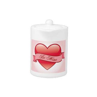 Be Mine Forever Love Teapot