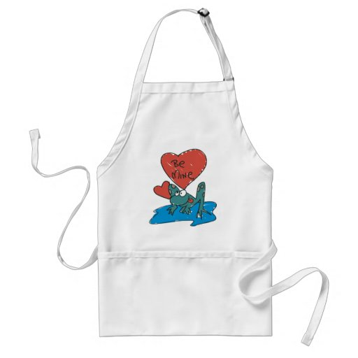 Be Mine Frog Adult Apron