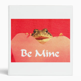 Be Mine Frog close up photograph 3 Ring Binder