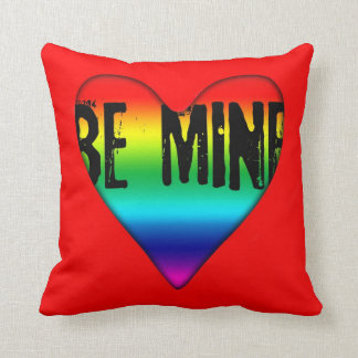 Be Mine Gay Rainbow Love Valentine Pillow