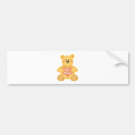 Be Mine Heart Bear Bumper Sticker
