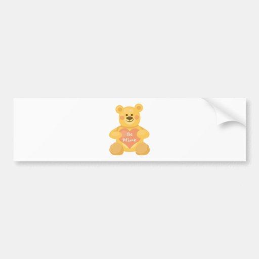 Be Mine Heart Bear Bumper Stickers