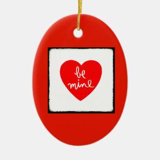 Be Mine Heart Ceramic Ornament