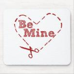 Be Mine heart Cutout Mouse Pad
