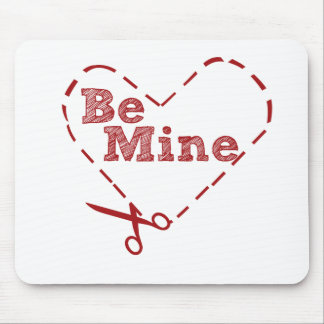 Be Mine heart Cutout Mouse Pad