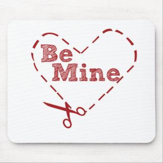 Be Mine heart Cutout Mousepad