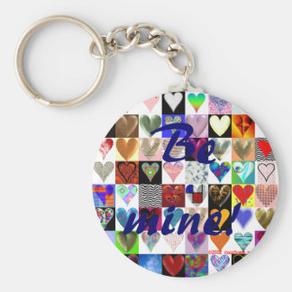 Be mine! Heart Keyring Basic Round Button Keychain