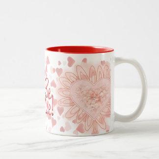 BE MINE HEARTS & LACE by SHARON SHARPE Mugs