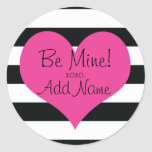 """Be Mine"" Hip Personalized Valentines Sticker"