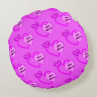 Be Mine Hot Pink Valentine's Day Pillow