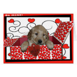 BE MINE - I WUF YOU - I LOVE YOU - PUPPY VALENTINE CARDS