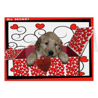 BE MINE - I WUF YOU - I LOVE YOU - PUPPY VALENTINE CARD