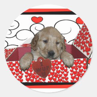 BE MINE - I WUF YOU - I LOVE YOU - PUPPY VALENTINE STICKER