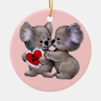 Be Mine Koalas Christmas Ornaments