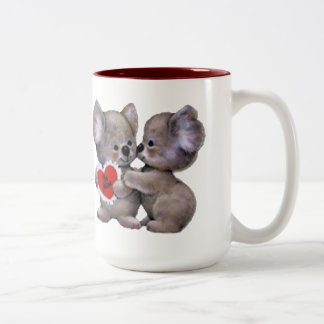 Be Mine Koalas Two-Tone Coffee Mug