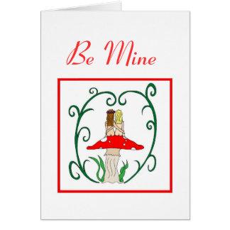 Be Mine Lesbian Faerie Valentine's Day Card
