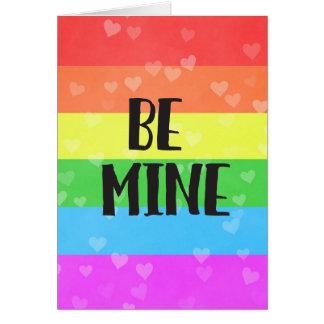 Be Mine LGBT Pride Valentine's Day Card