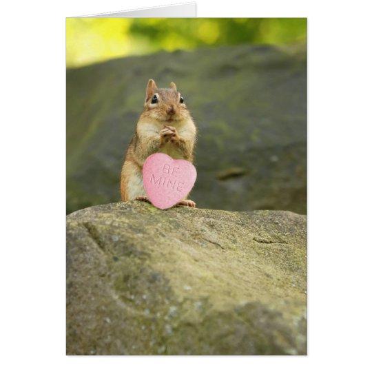 Be Mine Little Chipmunk Card