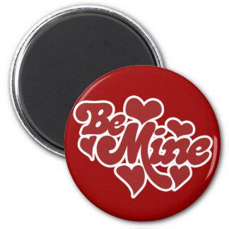 Be Mine Love 2 Inch Round Magnet