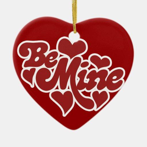 Be Mine Love Christmas Tree Ornament