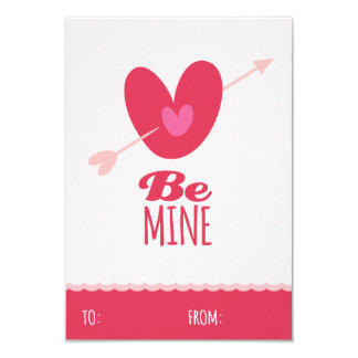 Be Mine Love Classroom School Kids Valentine's Day Card