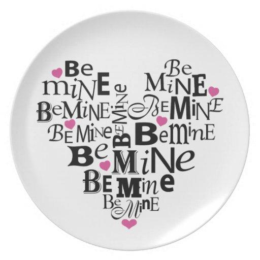 Be Mine Melamine Plate