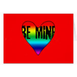 Be Mine on RED - Gay St Valentine's Day Card