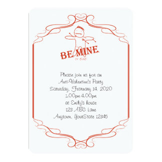 Be Mine or Else Anti-Valentine Party Invitation
