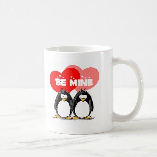 Be Mine Penguins Coffee Mug