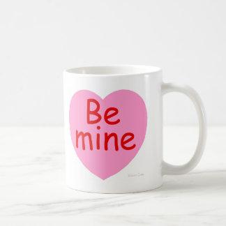 Be Mine Pink Heart Coffee Mug