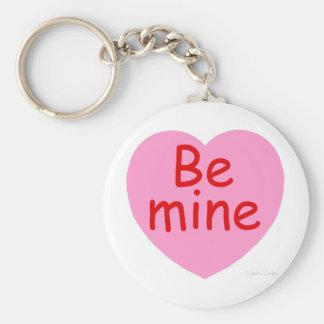 Be Mine Pink Heart Keychain