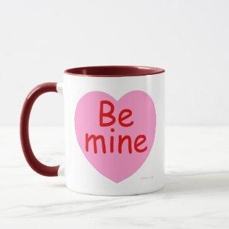 Be Mine Pink Heart Mug