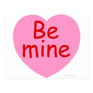 Be Mine Pink Heart Postcard