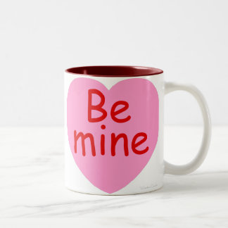 Be Mine Pink Heart Two-Tone Coffee Mug
