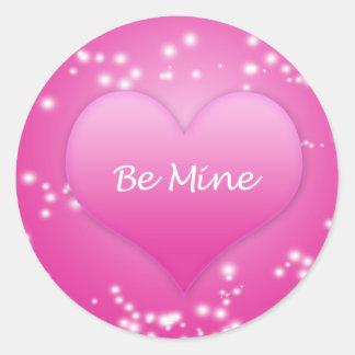 Be Mine Pink Valentine's Day Sticker